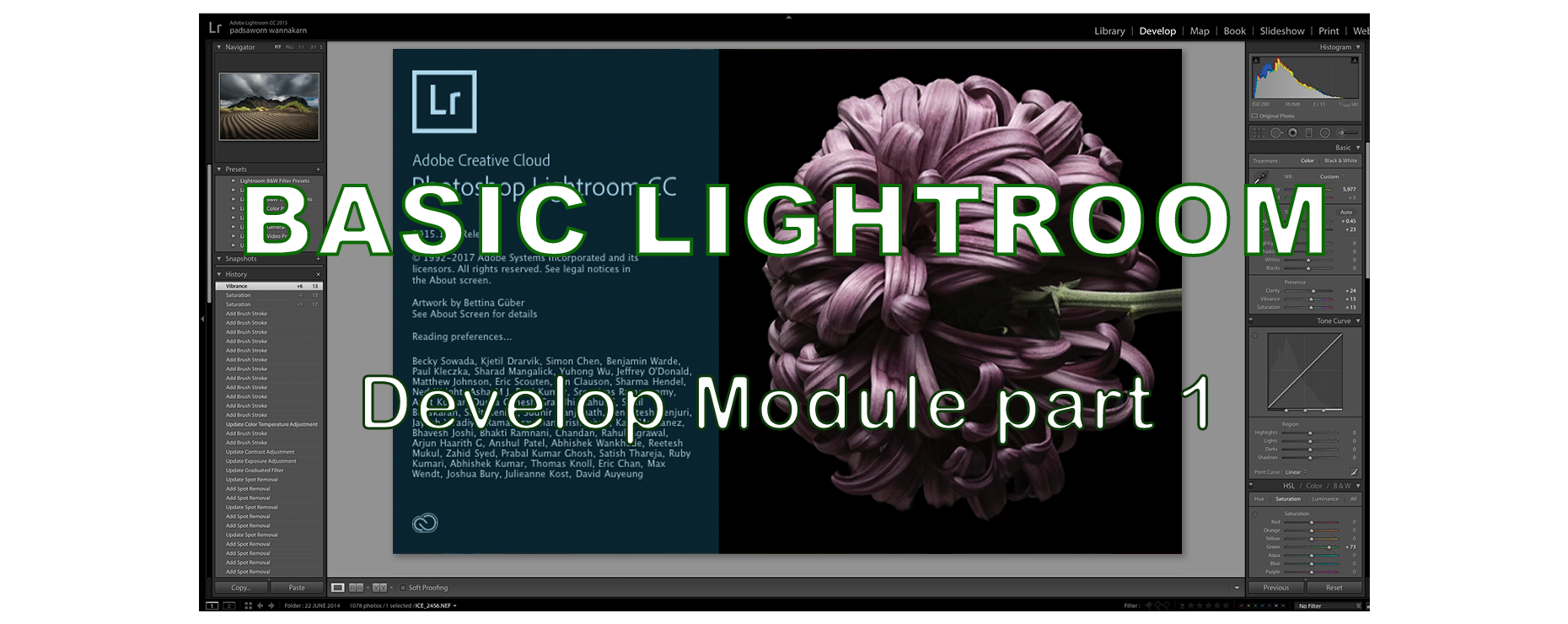 Basic Lightroom : Develop Module part 1
