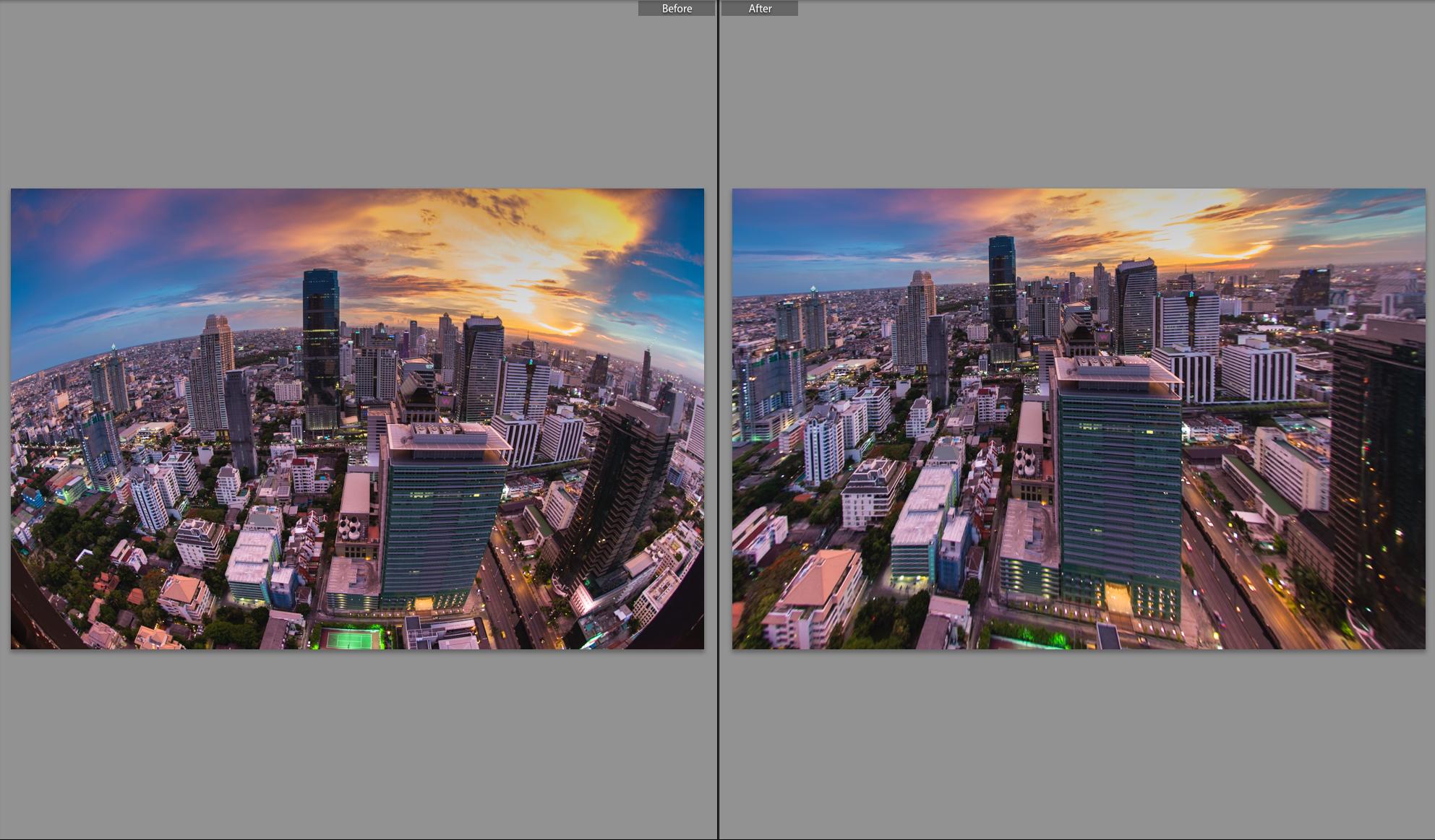 แก้ไข Perspective ด้วยฟังก์ชั่น Upright ในโปรแกรม Adobe Lightroom