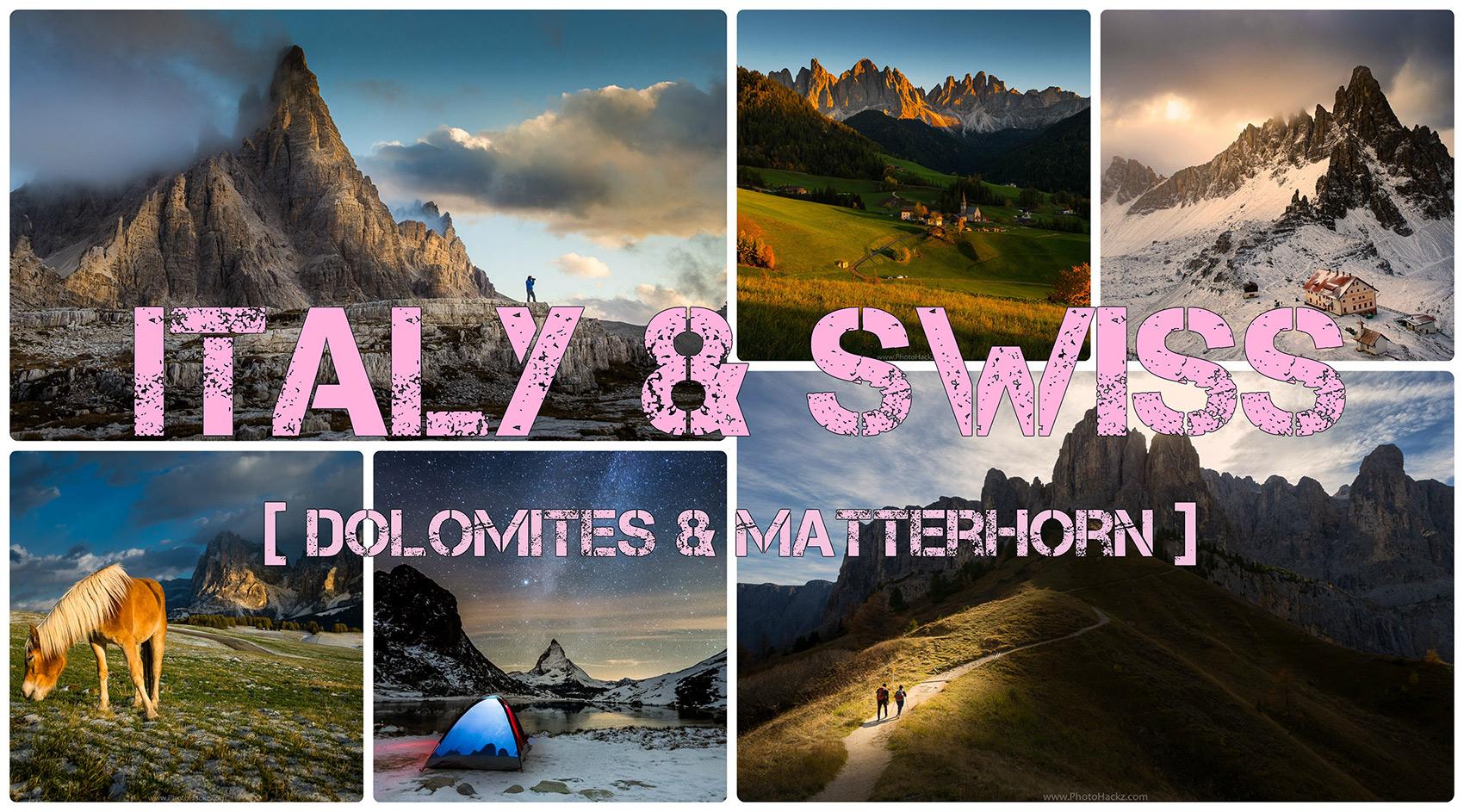 Autumn time in Italy and Switzerland  [ Dolomites & Matterhorn]